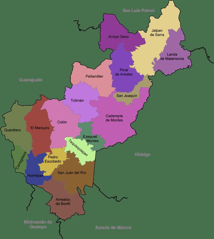 Mapa de Querétaro y Municipios